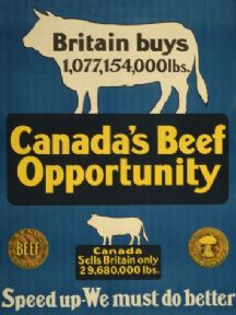 Canada's beef opportunity. Vintage Canadian Poster.